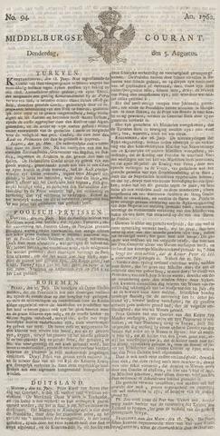 Middelburgsche Courant 1762-08-05