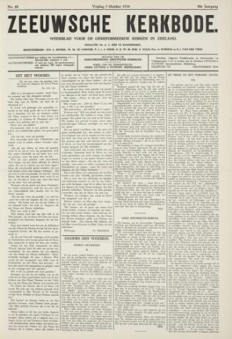 Zeeuwsche kerkbode, weekblad gewijd aan de belangen der gereformeerde kerken/ Zeeuwsch kerkblad 1934-10-05