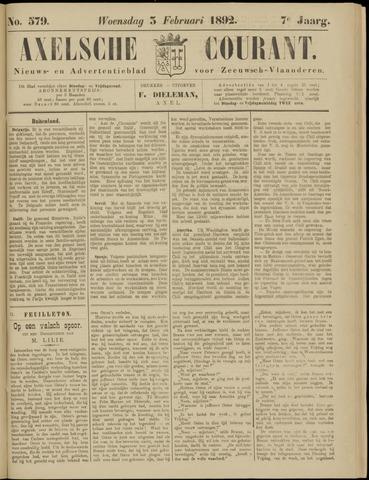 Axelsche Courant 1892-02-03