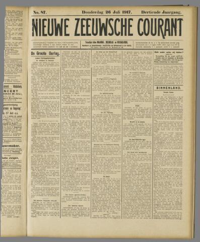 Nieuwe Zeeuwsche Courant 1917-07-26