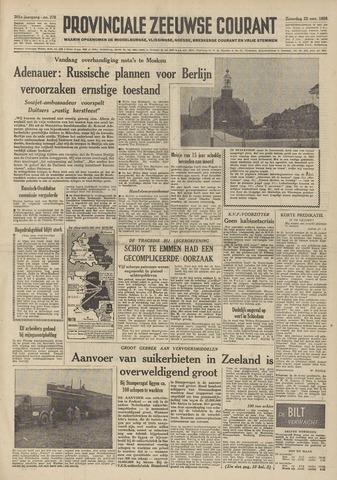 Provinciale Zeeuwse Courant 1958-11-22