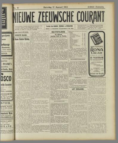 Nieuwe Zeeuwsche Courant 1912-01-27
