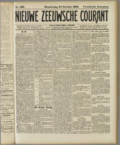 Nieuwe Zeeuwsche Courant 1918-10-24