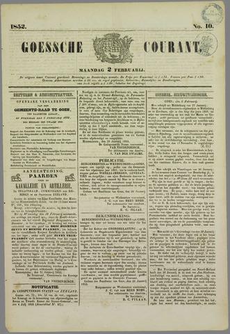 Goessche Courant 1852-02-02