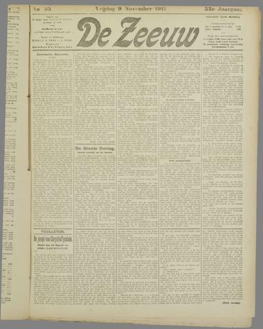 De Zeeuw. Christelijk-historisch nieuwsblad voor Zeeland 1917-11-09