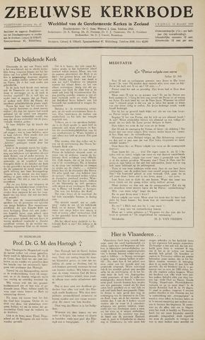 Zeeuwsche kerkbode, weekblad gewijd aan de belangen der gereformeerde kerken/ Zeeuwsch kerkblad 1959-03-13
