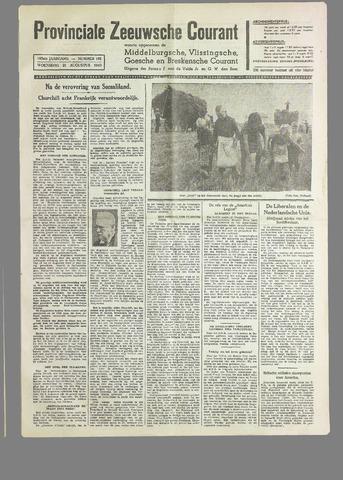 Provinciale Zeeuwse Courant 1940-08-21