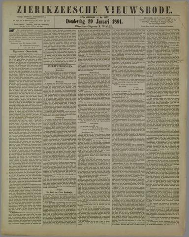 Zierikzeesche Nieuwsbode 1891-01-29