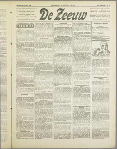 De Zeeuw. Christelijk-historisch nieuwsblad voor Zeeland 1934-10-26