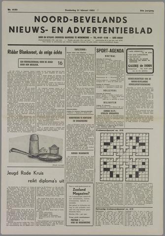 Noord-Bevelands Nieuws- en advertentieblad 1985-02-21