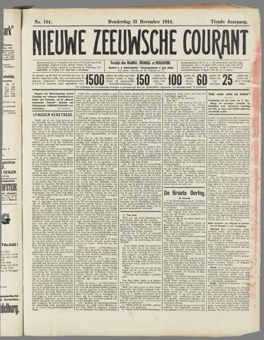 Nieuwe Zeeuwsche Courant 1914-12-31