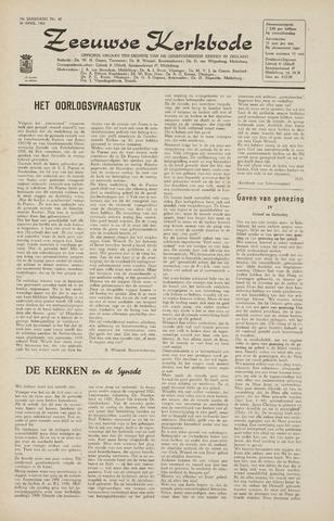 Zeeuwsche kerkbode, weekblad gewijd aan de belangen der gereformeerde kerken/ Zeeuwsch kerkblad 1965-04-30