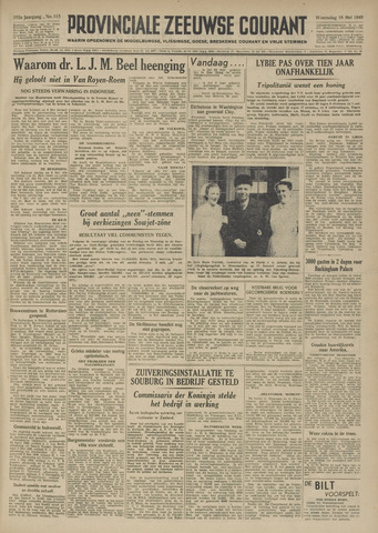 Provinciale Zeeuwse Courant 1949-05-18