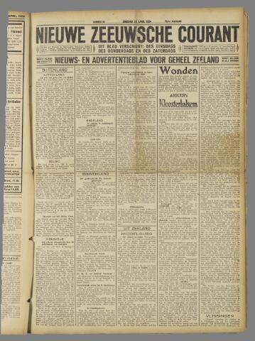 Nieuwe Zeeuwsche Courant 1924-04-22