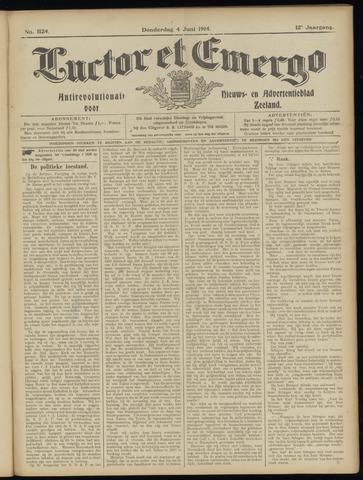 Luctor et Emergo. Antirevolutionair nieuws- en advertentieblad voor Zeeland / Zeeuwsch-Vlaanderen. Orgaan ter verspreiding van de christelijke beginselen in Zeeuwsch-Vlaanderen 1914-06-04