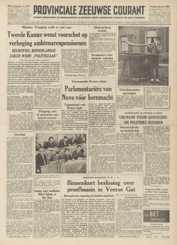 Provinciale Zeeuwse Courant 1960-11-25