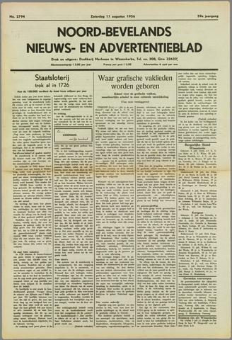 Noord-Bevelands Nieuws- en advertentieblad 1956-08-11