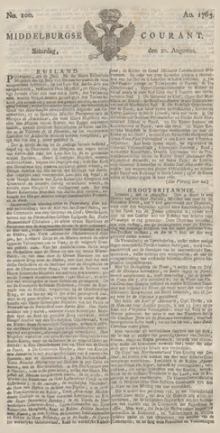 Middelburgsche Courant 1763-08-20