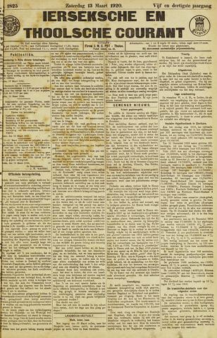 Ierseksche en Thoolsche Courant 1920-03-13