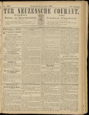 Ter Neuzensche Courant. Algemeen Nieuws- en Advertentieblad voor Zeeuwsch-Vlaanderen / Neuzensche Courant ... (idem) / (Algemeen) nieuws en advertentieblad voor Zeeuwsch-Vlaanderen 1904-11-03