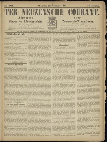 Ter Neuzensche Courant. Algemeen Nieuws- en Advertentieblad voor Zeeuwsch-Vlaanderen / Neuzensche Courant ... (idem) / (Algemeen) nieuws en advertentieblad voor Zeeuwsch-Vlaanderen 1884-11-26