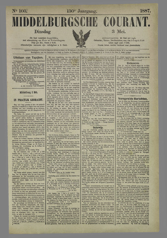 Middelburgsche Courant 1887-05-03