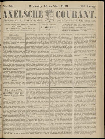 Axelsche Courant 1913-10-15