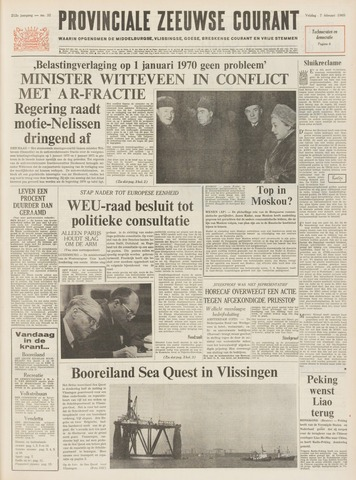 Provinciale Zeeuwse Courant 1969-02-07