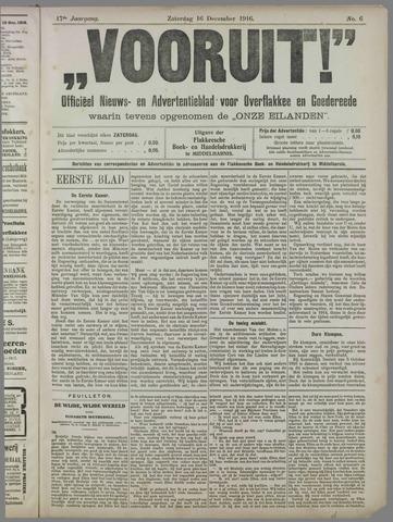 """""""Vooruit!""""Officieel Nieuws- en Advertentieblad voor Overflakkee en Goedereede 1916-12-16"""