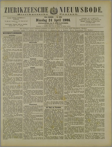 Zierikzeesche Nieuwsbode 1906-04-24