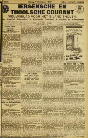 Ierseksche en Thoolsche Courant 1927-09-02