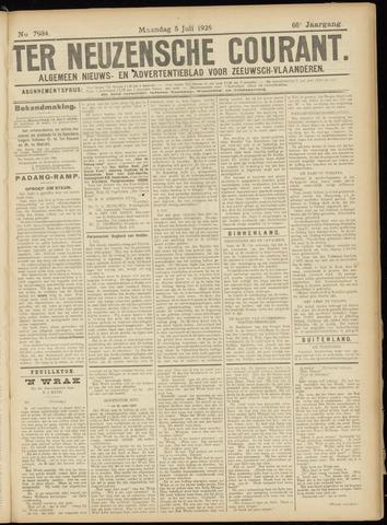 Ter Neuzensche Courant. Algemeen Nieuws- en Advertentieblad voor Zeeuwsch-Vlaanderen / Neuzensche Courant ... (idem) / (Algemeen) nieuws en advertentieblad voor Zeeuwsch-Vlaanderen 1926-07-05