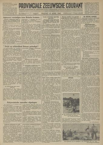 Provinciale Zeeuwse Courant 1942-04-10