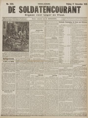 De Soldatencourant. Orgaan voor Leger en Vloot 1915-12-17