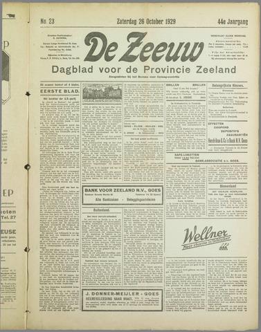 De Zeeuw. Christelijk-historisch nieuwsblad voor Zeeland 1929-10-26