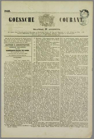 Goessche Courant 1851-08-11