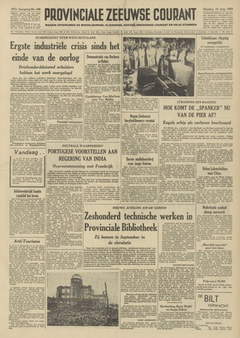 Provinciale Zeeuwse Courant 1954-08-10