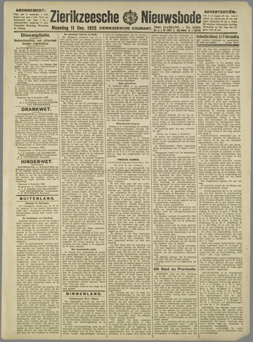 Zierikzeesche Nieuwsbode 1922-12-11