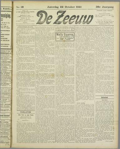 De Zeeuw. Christelijk-historisch nieuwsblad voor Zeeland 1921-10-22