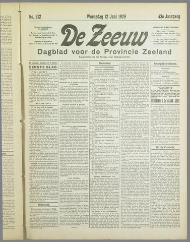 De Zeeuw. Christelijk-historisch nieuwsblad voor Zeeland 1929-06-12