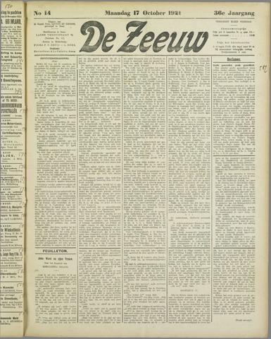 De Zeeuw. Christelijk-historisch nieuwsblad voor Zeeland 1921-10-17