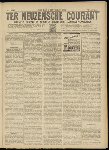 Ter Neuzensche Courant. Algemeen Nieuws- en Advertentieblad voor Zeeuwsch-Vlaanderen / Neuzensche Courant ... (idem) / (Algemeen) nieuws en advertentieblad voor Zeeuwsch-Vlaanderen 1935-09-09