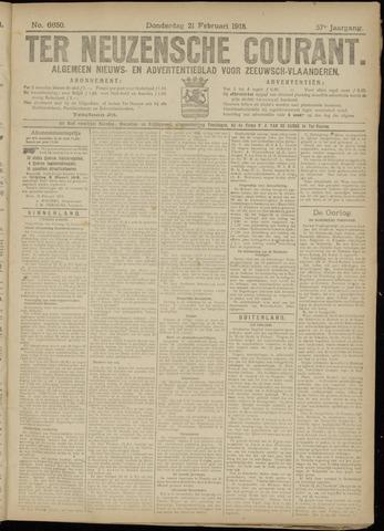 Ter Neuzensche Courant. Algemeen Nieuws- en Advertentieblad voor Zeeuwsch-Vlaanderen / Neuzensche Courant ... (idem) / (Algemeen) nieuws en advertentieblad voor Zeeuwsch-Vlaanderen 1918-02-21