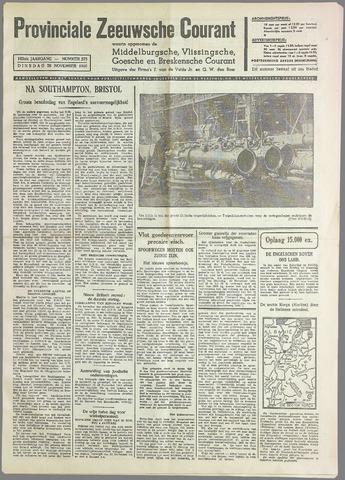 Provinciale Zeeuwse Courant 1940-11-26