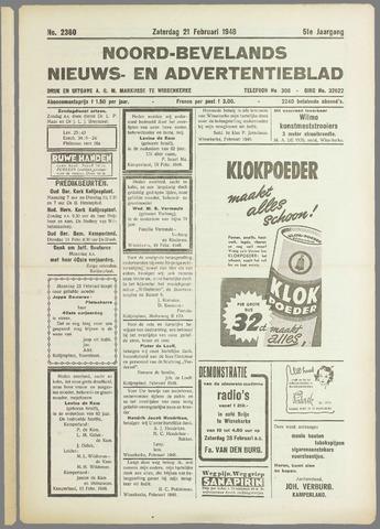 Noord-Bevelands Nieuws- en advertentieblad 1948-02-21
