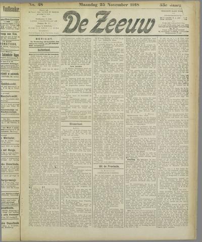 De Zeeuw. Christelijk-historisch nieuwsblad voor Zeeland 1918-11-25