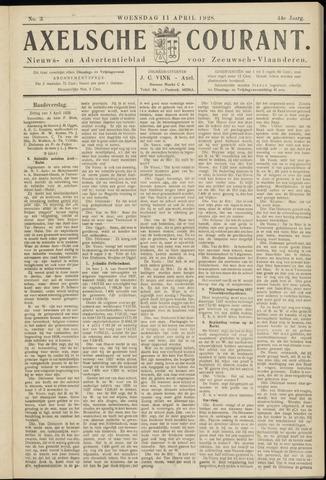 Axelsche Courant 1928-04-11