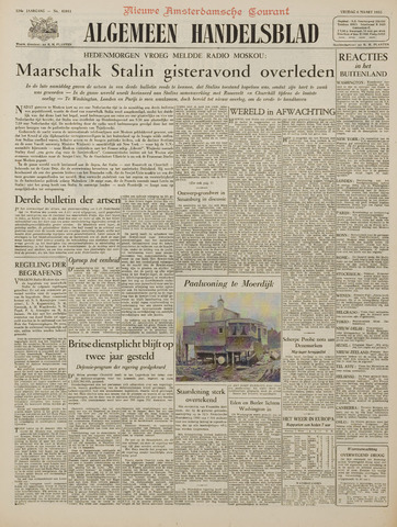 Watersnood documentatie 1953 - kranten 1953-03-06