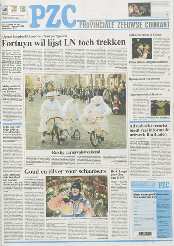 Provinciale Zeeuwse Courant 2002-02-11