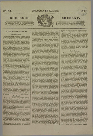 Goessche Courant 1845-10-13